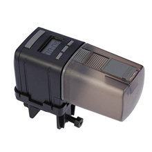 LCD Automatic Fish Feeder Aquarium Tank Auto Food Timer Feeding Dispenser Adjustable Outlet