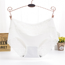 High-rise Panty Floral Lace Hollow Seamless Underwear Free Size Middle Waist Mesh Transparent Breath