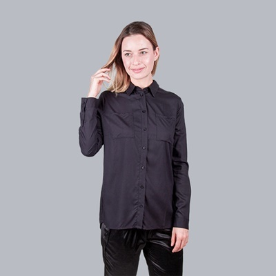 SEEN 05B BLACK VISCOSE