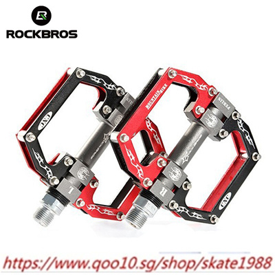 RockBros Bike MTB BMX Platform Flat Pedal Aluminum Alloy 2 Sealed Bearing Pedals