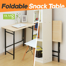 Slim Foldable Snack Table/80cm/Compact Desk/Student Desk/Dining table/Furniture/Table
