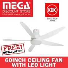 KDK U60FW 60INCH CEILING FAN WITH LED LIGHT / DC MOTOR / LOCAL WARRANTY / FREE BASIC INSTALLATION
