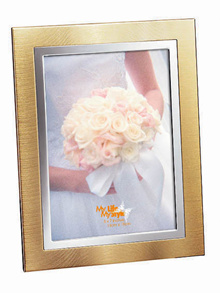 Unique Designed Gold Double Band Vertical Display 4R / 5R / 6R / 8R Photo Frames