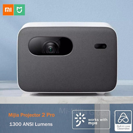 💖LOCAL SELLER💖Xiaomi Mijia 2 Pro DLP Projector 1080P 1300 ANSI Lumens Support Side Projection Home