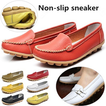 Waterproof sole  slip-on shoes  ladies shoes tassel moccasin ribbon sneaker