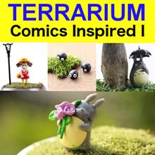 Comics Inspired I ★ Totoro n Friends ★ Totoro in Lucky Bamboo ★ Totoro Figurine ★ Terrarium