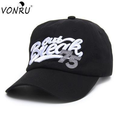 vonru black baseball cap women snapback men caps hats female brand bone  gorras cotton casquette 41f83702b80