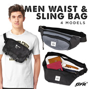 Get 2 Pcs JFR Men Waist and Sling Bag Collections - 4 Models_Made In Indonesia
