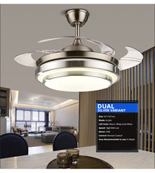 [Invisible ceiling fan with LED light ] Retractable Blade Ceiling Fan + 3 type of LED Light