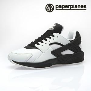 [Free Shipping] [hot item] [paperplanes sneakers] PP1358 WHITE BLACK ☆MADE  IN KOREA ☆K-POP☆casual☆footwear☆sports☆running☆fashion☆Unisex☆Men☆Women