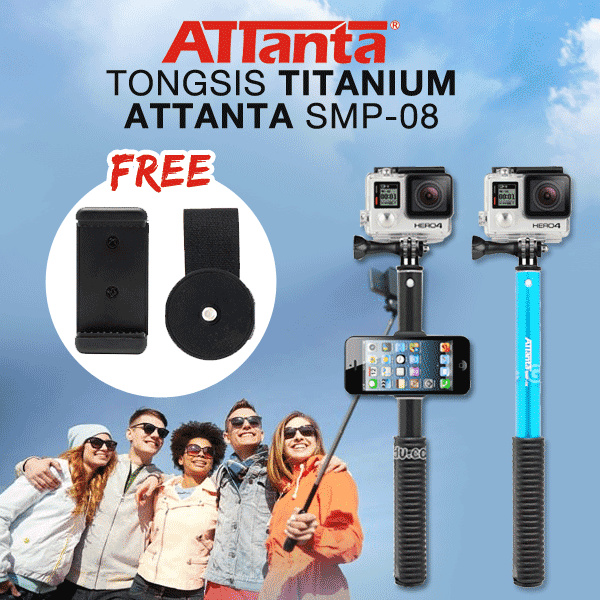 Tongsis Titanium Attanta SMP-08 or GoProXiaomi Yi SJ4000/SJ5000 Smartphone Deals for only Rp95.000 instead of Rp95.000