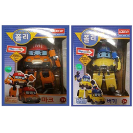 NEW Robocar Poli Transformable Bucky/Mark 10 Cm