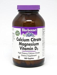 BlueBonnet Calcium Citrate Magnesium Plus Vitamin D3 Caplets, 180 Count