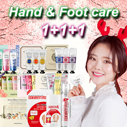 1+1+1 [Medi Flower] Hand Cream Gift Set / Beauty foot series