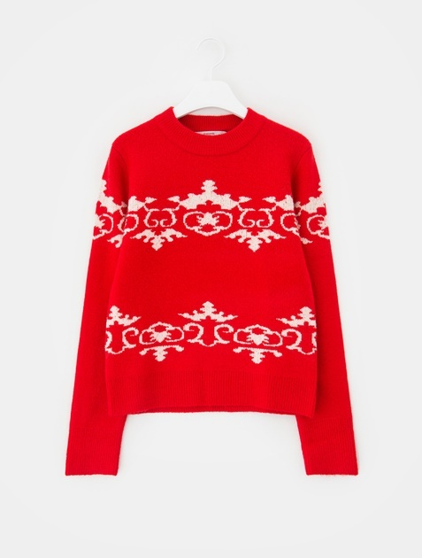 8SECONDS Nordic Knit Pullover - Red
