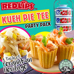 [RED LIPS] Peranakan KUEH PIE TEE Party Set. 50 - 80 Cups. Peranakan Fillings Included.
