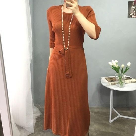 ・アバウト・スタイル行き来するようにオスELEGANCE・ニットロングワンピース ニット・ワンピース/ 韓国ファッション