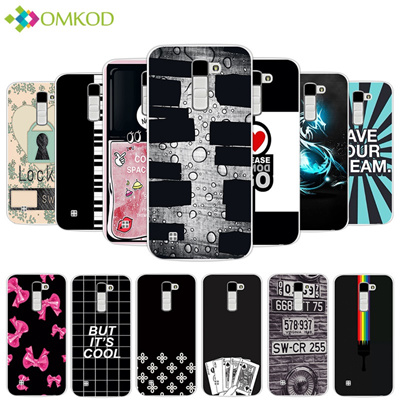 new style 74c6a adb76 Case For LG K10 Lte K 10 M2 K410 K420N K430DS F670 Dual Cases Soft Dark  Color Back Cover for LG K410