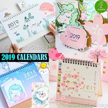Most Designs! Cute Cartoon Calendars 2019 ★ Pastel Animals Flowers ★ Christmas Door Gift Present