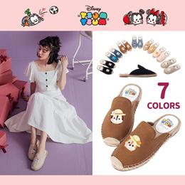 Gracegift-Disney Tsum Tsum embroidery espadrilles slip-on/Women/Ladies/Girl Shoes/Taiwan Fashion