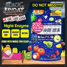 [10 +1] BLACK FRIDAY SALES! ✦ LOWEST PRICE TODAY★ JAPAN NO.1 ENZYME SLIMMING/DIET/DETOX ★ 120 TABLET