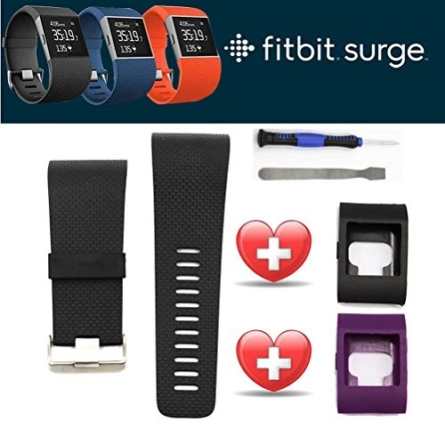 Sibode fitbit surge band replacement large or fitbit surge band cover