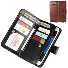 Two in one wallet Leather Case IPhone 7/7plus、8/8plus、6/6 Plus、5/5s/Se、Samsung Galaxy S7/S7 Edge