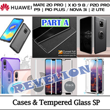PT-A★SG★Huawei Honor Mate 20 P20 10 9 X Pro Plus Nova 3i 2 Lite FULL Case Glass Screen Protector