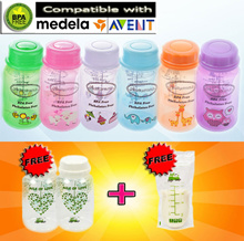 ♥FREE BOTTLE♥ ★【Breast Milk Bottle Medela-Compatible】★ Jingle Jungle and Autumnz Breastmilk Bottle