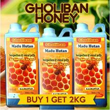 BUY 1 GET 2KG//  Madu Hutan Kalimantan Gholiban Plus Bee Pollen Dan Royal Jelly