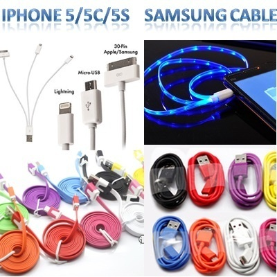 [SALE!]High Speed 3m USB Cable LED Smiley Micro Samsung Note3 iPhone5 5S 5C iPad lightning GALAXY S3 S4 Note2 XiaoMi RedMi Me3