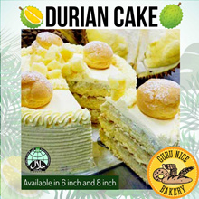 [Gurunicebakery] POPULAR! Freshly Baked 6 or 8 Inch Durian Cake from Guru Nice Bakery!!! (Worth $58)