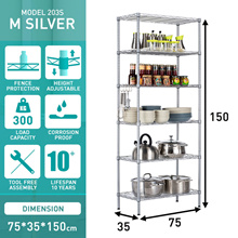 5 Tier Rack/Shoe Rack/Kitchen Storage Rack Shelf Organizer/Microwave Rack/Cabinet Shelving/Storage