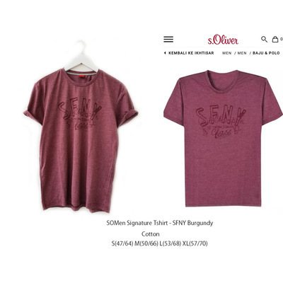 SOMEN Signature Tshirt SFNY Burgundy