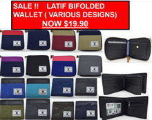 SALE  BIFOLD WALLETS CANVAS ( For ALL AGES)