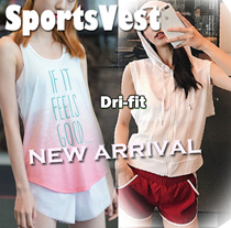 [Moving Peach] HOT Sale ! Sports vest Yoga vest tank top running wear DRI-FIT premium New arrival