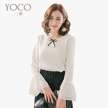 YOCO - Ruffle Sleeve Blouse-172669-Winter