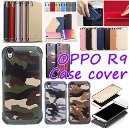 OPPO R9S cover case Clear TPU  Leather Card forst case  Tempered Glass Screen Protector for OPPO R11