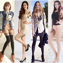 LANGSHA Crothless Pantyhose / Langsha Pantyhose / Stocking/ Fishnet Stocking
