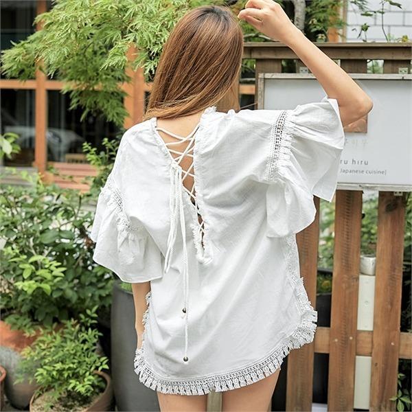 ロコ・シックスback point ethnic dressワンピースnew フレアワンピース/ワンピース/韓国ファッション