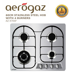 Aerogaz 60CM Stainless Steel Hob with 4 burners (AZ-470SF)