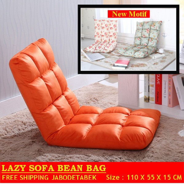 LAZY SOFA BEANBAG / KURSI MALAS / TATAMI SOFA SIZE BESAR / Size : 110 x 55 x 15 cm Deals for only Rp490.000 instead of Rp490.000