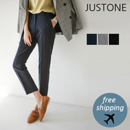 [JUSTONE❤] Bai side bending span slack / Free Shipping / Korean Fashion