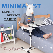 Laptop Table/Computer Desk/Height Adjustable Foldable /Bed desk