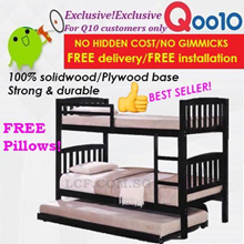 Furniture Sales!TRIPLE BED SET DEALS!Strong and durable Solidwood double decker bed+Pullout bed!