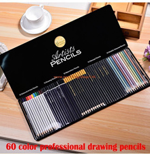 60 Colors Safe Non-toxic Indonesia Lead Water Soluble Colored Pencil Watercolor Pencil Set For Writi