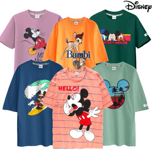 [S$9.90](▼67%)[Disney][Disney] New design Update!/Mickey Short Sleeve T-shirts+ Shorts Collection / Unisex T-shirts+ Short
