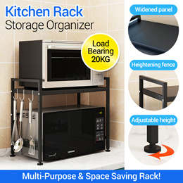 Home Microwave Oven Rack Kitchen Shelf Organizer Stainless Steel Kitchen Storage Rack Over the Oven