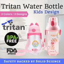 Kids Series Tritan Water Bottle Learning Bottle BPA Free Handle or Strap Design for Boys and Girls