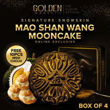 Signature SnowSkin Mao Shan Wang Mooncake (Box of 4) Free 10pcs MSW Choux for 1st 100